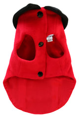 black and red cashmere dog jacket