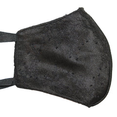 black chantilly lace face mask