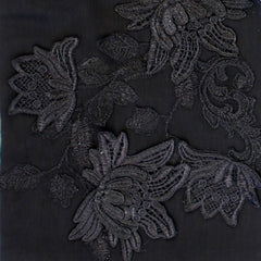 black embroidery applique