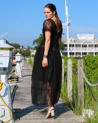 black lace dress in nantucket
