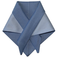 blue cotton shirting dog scarf made in nyc