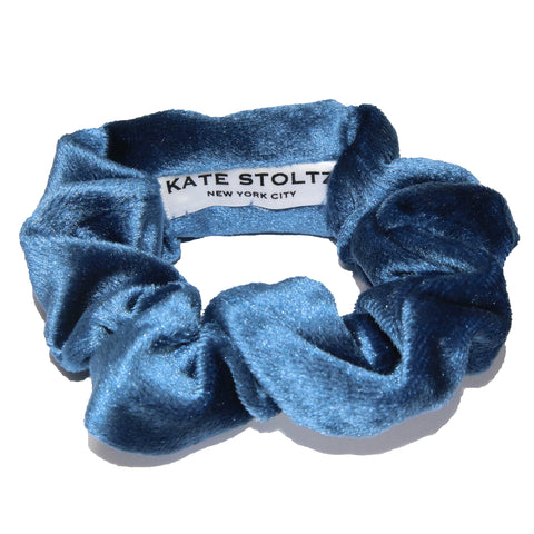 Cloud Blue Velvet Hair Scrunchie