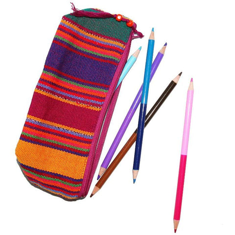 Colorful Handwoven Pencil Pouch