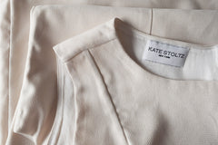 Kate Stoltz Cream Shift Dress Details