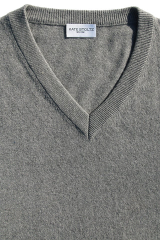 Sleet Grey Regenerated Italian Cashmere Sweater