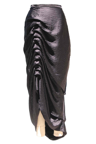 Hammered Silk Ruched Skirt