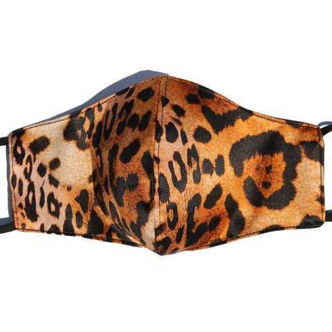 Jaguar Italian Silk Mask with Cotton Layer