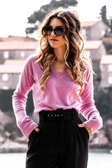 Pink Regenerated Italian Cashmere Sweater