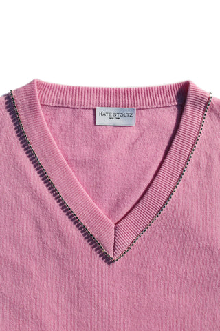 Swarovski Crystal Embellished Regenerated Italian Cashmere Sweater