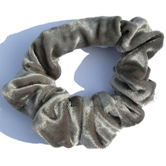 silver-ice-grey-velvet-scrunchie
