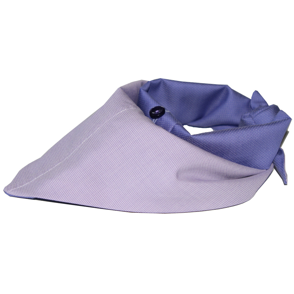 two toned cotton shirting dog scarf