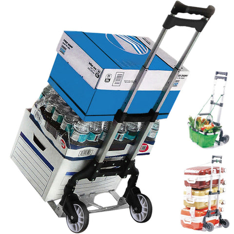Folding Hand Cart Holds 170 lbs - Urban Square Displays