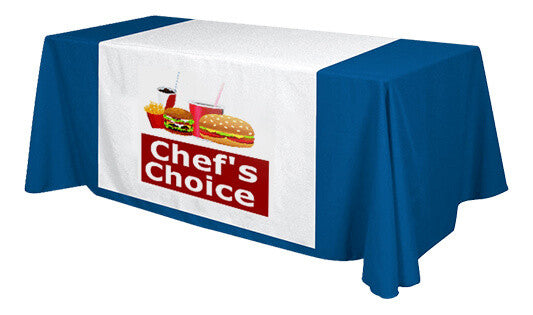 Custom Printed Table runner with 68inch length, full color. - Urban Square Displays
