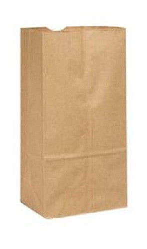 "8LB BROWN DURO PAPER GROCERY BAGS, 6 1/8""x 4 1/6"" x 12 7/16, FLAT BOTTOM, 50/PKG - Urban Square Displays"