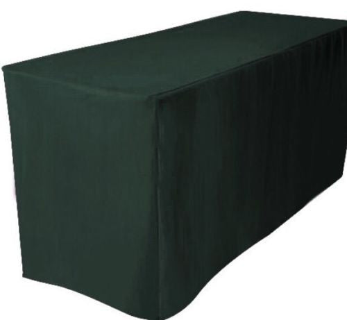 8' ft. Fitted Polyester Wedding Banquet Event Tablecloth. - Urban Square Displays