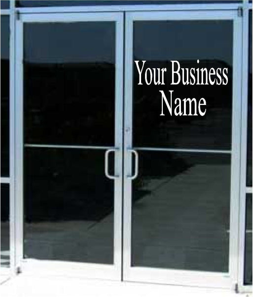 Store Window Graphic Lettering - Urban Square Displays