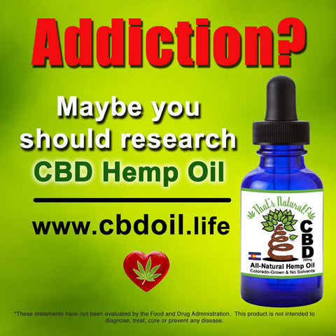 CBD may be helpful in treating #opioid #addiction – and in addition to helping with recovery, CBD has pain-relieving properties that may be a better, non-addictive treatment option for those recovering from injuries. See more from That's Natural at www.cbdoil.life and @cbdhempoil and soon find us in the #Aspen Valley at our new retail store @thatsnatural  #depression #anxiety #peace #PTSD #vets #holistic #essentialoils #addictionrecovery