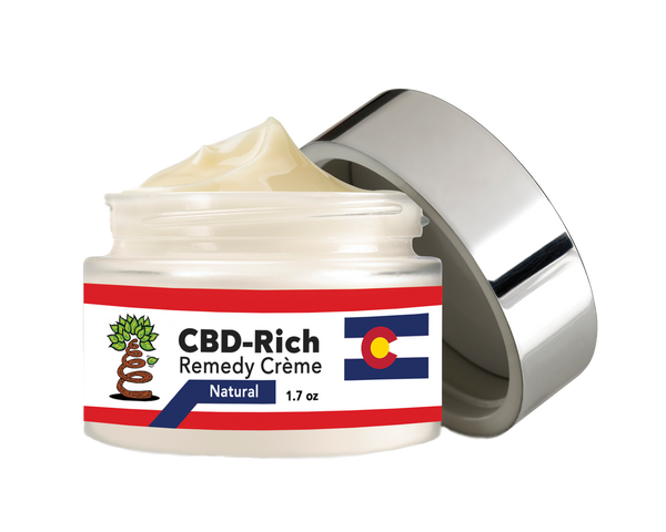 That's Natural Healing Creme & That's Natural Remedy Creme - CBD-Rich Remedy Creme (250mg CBD per 1.7oz) - A luxurious CBD-infused lotion for pain relief and  soothing effects on the skin - our most popular product and great for all areas of the body.  This is our most popular topical product - used for the spot treatment on areas with pain. Find online at www.cbdoil.life, cbdoil.life, www.thatsnatural.info, thatsnatural.info