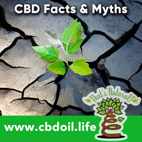 CBD Facts versus Myths - Full spectrum cannabinoids and terpenes at That's Natural at cbdoil.life