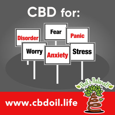 CBD for Anxiety, CBD for Stress, CBD for Panic, CBD for Fear, CBD for Worry - from Thats Natural at cbdoil.life