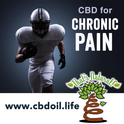 CBD for Chronic Pain - NFL players recognizing and promoting CBD (Cannabidiol) for chronic pain management and recovery from traumatic nervous system disorders.  See more research and news from That's Natural at www.cbdoil.life.