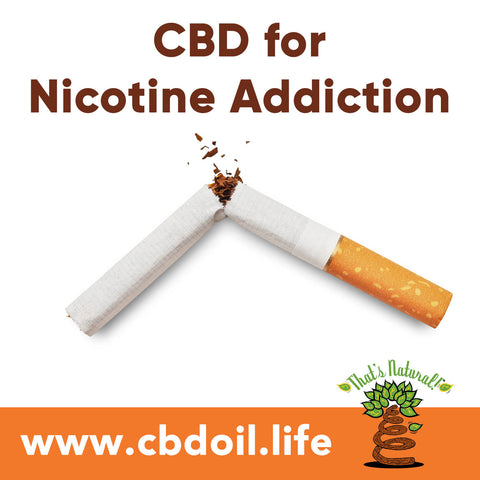 Could CBD help with nicotine addiction?  Research is showing how the Endocannabinoid System may contribute to people's health and ability to fight addiction.  See more from That's Natural at www.cbdoil.life and @cbdhempoil