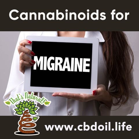 CBD for Migraines, Cannabinoids for Migraines - How the Endocannabinoid System may be responsive to phytocannabinoids - news and research from That's Natural at www.cbdoil.life