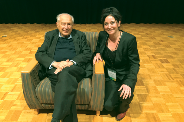 That's Natural Team and CEO Tisha Casida meet Dr. Raphael Mechoulam - The 'Father of Cannabis Research' at ICR (Institute for Cannabis Research) Conference