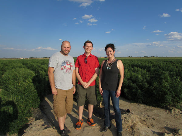 Part of the That's Natural team in an Otero County, Colorado hemp field - see more at cbdoil.life