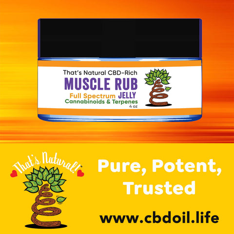 That's Natural CBD Muscle Rub Jelly - Topical CBD Products from Thats Natural - Experience the Entourage Effects with premium and trusted CBD and CBDA products at www.cbdoil.life and cbdoil.life