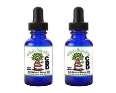 2 Bottle Pack of Premium CBD Hemp Oil from That's Natural! - 500mg Total