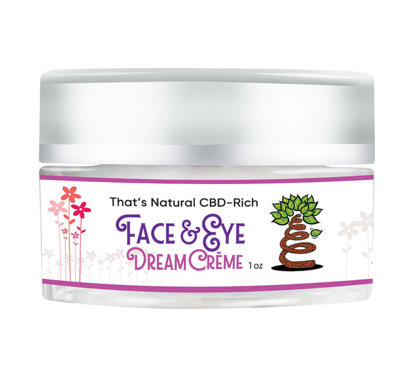 That's Natural CBD Face and Eye Dream Creme with 150mg of cannabinoids