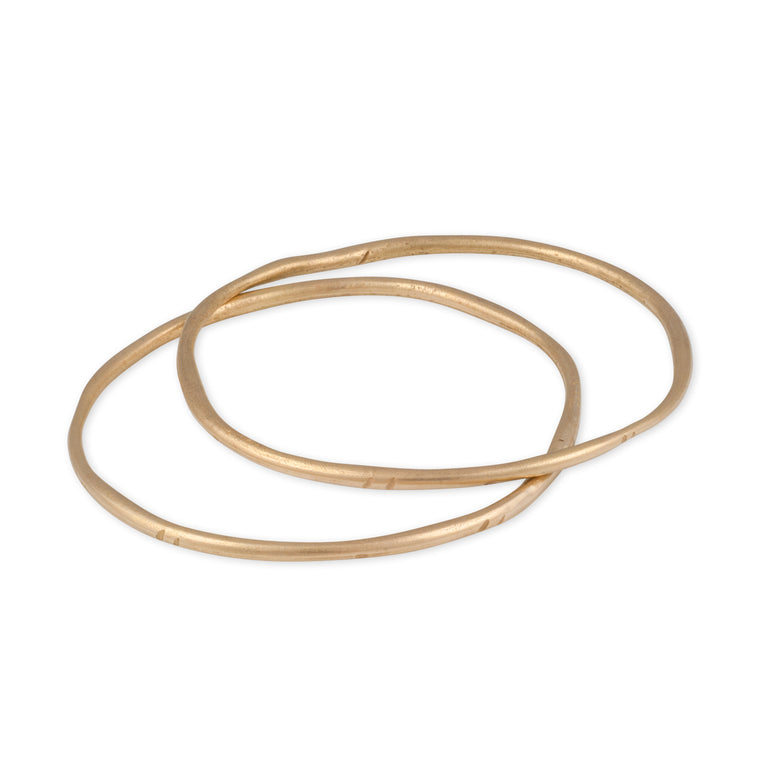 A made in America simple stacking bangle