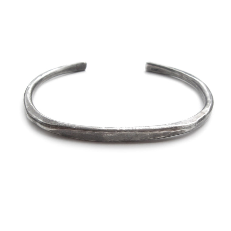 Kristen Mara men's hammered black oxidized sterling silver cuff bracelet