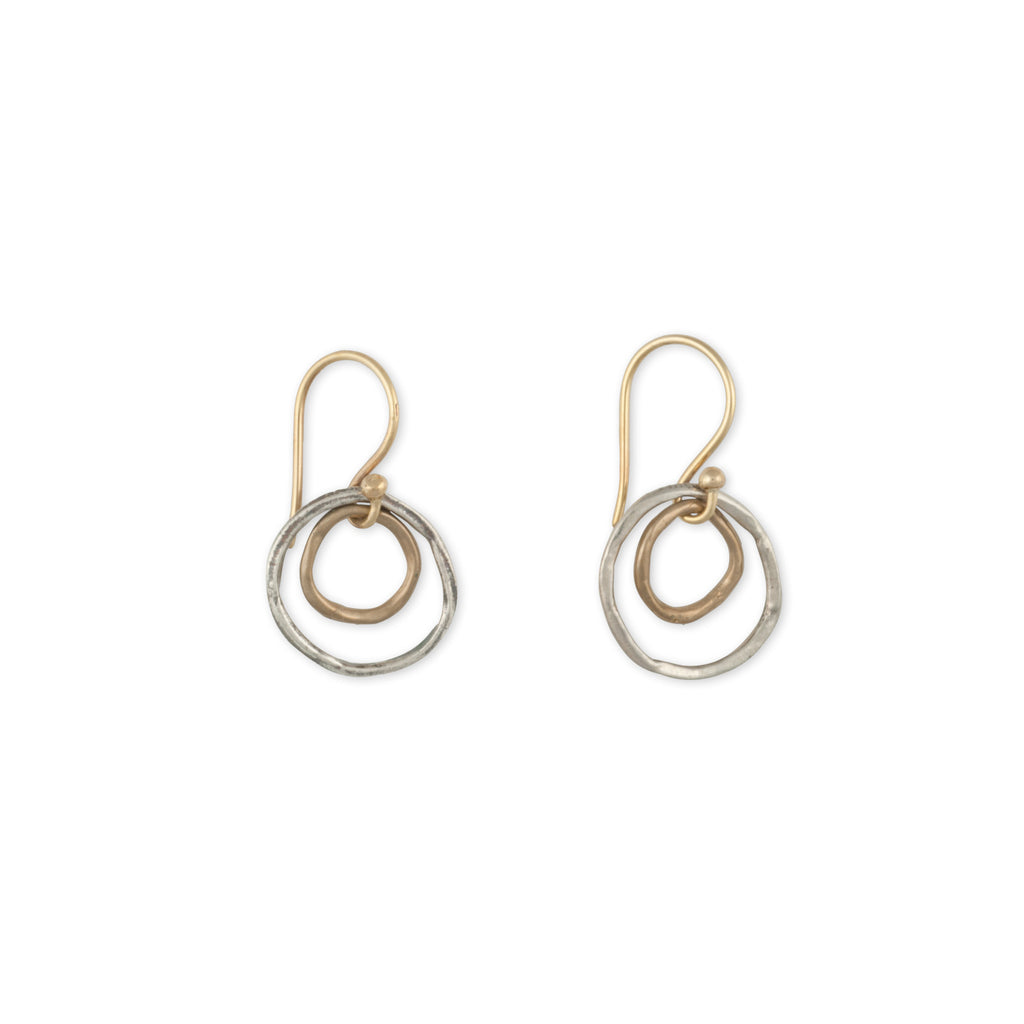 Eco-Conscious-Sterling-Silver-Bronze-Hoop-Earring
