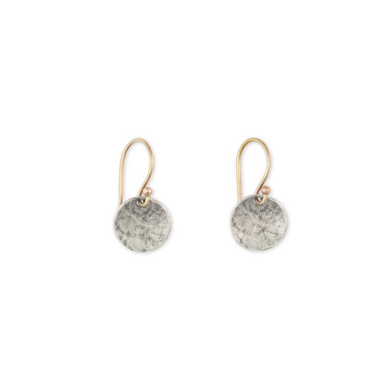 Simple-Accessories-Oxidized-Silver-Disc-Earring