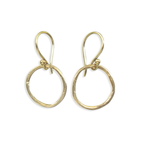 artisan-earring-bronze-oxidized-silver-round-hoop-small