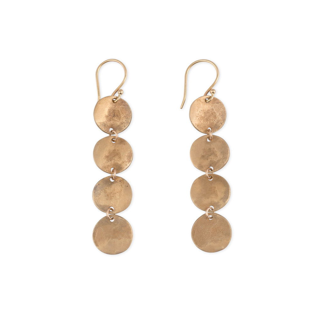 drop-earrings-statement-disc-long-hand-crafted-kristen-mara
