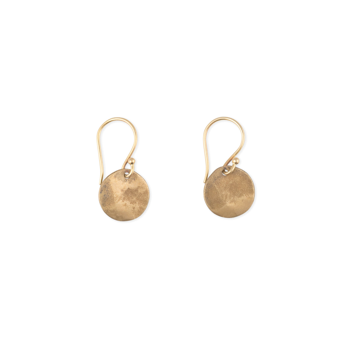 handcrafted-earrings-disc-silver-bronze-small-round
