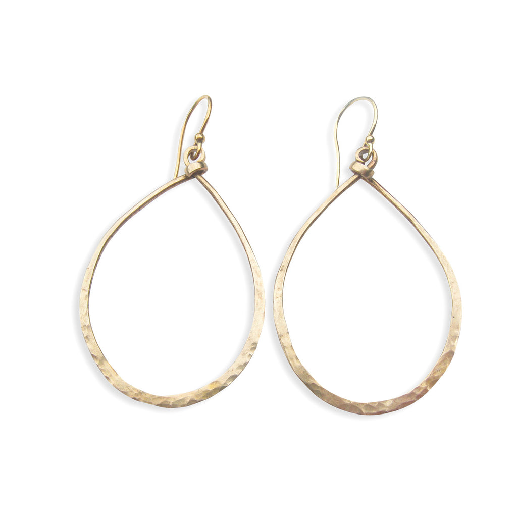 Sterling-Silver-Hoop-Earrings-Bronze-Hammered