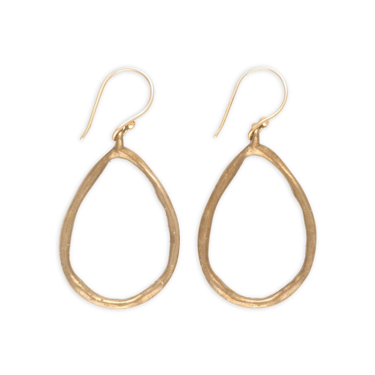 Teardrop-earrings-bronze-sterling-silver-hoops