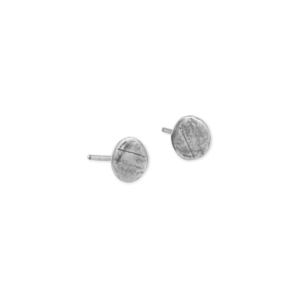 Earrings_Simple_Jewelry_Effortless_Style_Stud_Sterling_Circle_Small