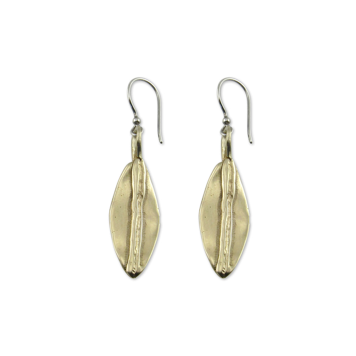 Soraya Earrings by Kristen Mara in sterling silver and bronze