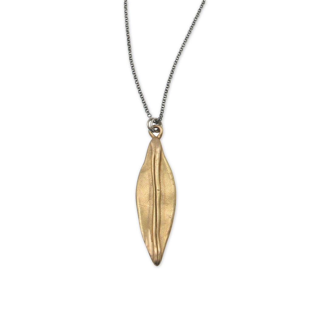 Kristen Mara hand carved marquis pendant necklace