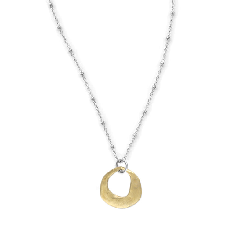 Kristen Mara Ancient Crescent Necklace with bronze or sterling silver pendant