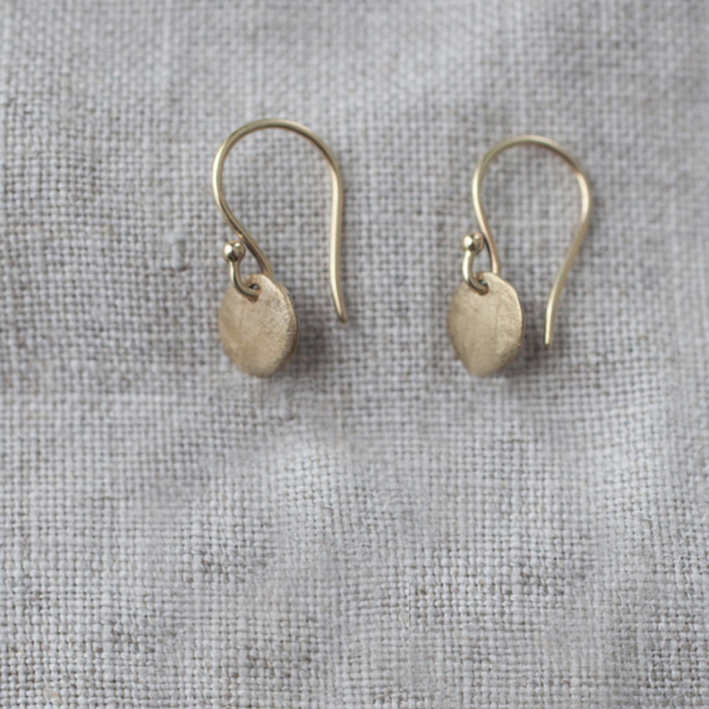 disc-earrings-drop-small-dainty-silver-bronze-lightweight-hand-crafted