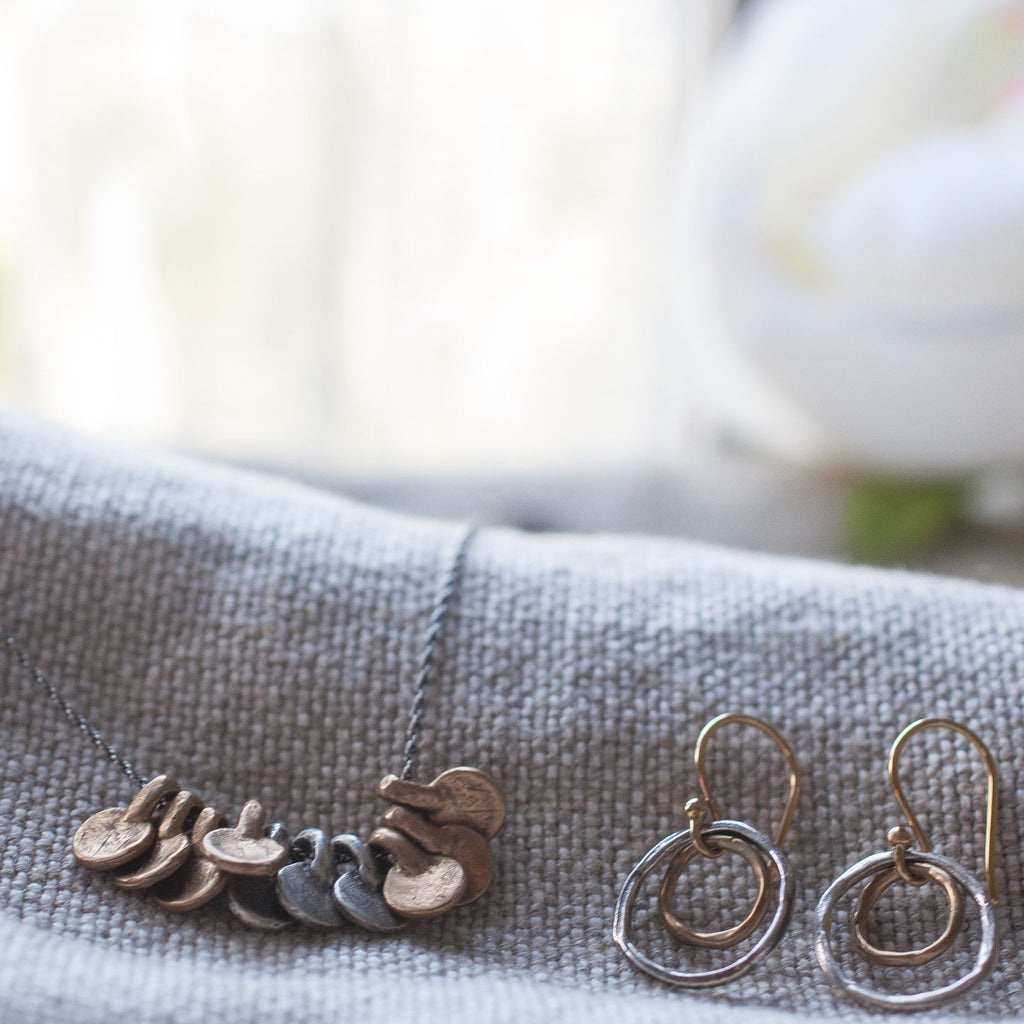 Charms-Bronze-Oxidized-Sterling-Silver-Necklace