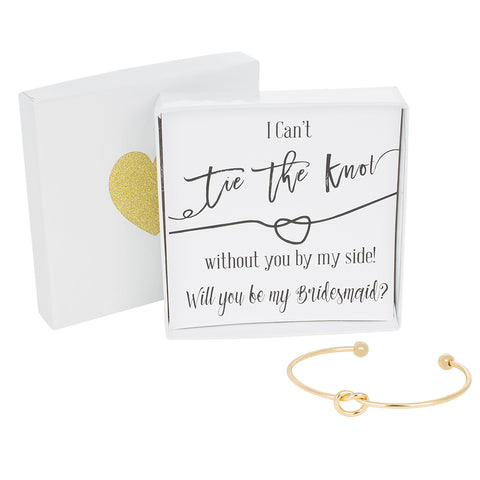 Single Tie the Knot Bracelet - Bridesmaid