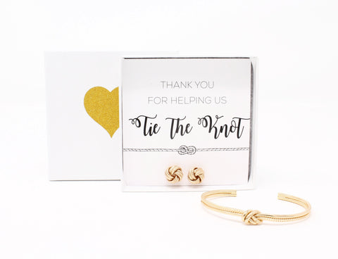 Sailor Love Knot Bracelet & Earring Set - Thank You