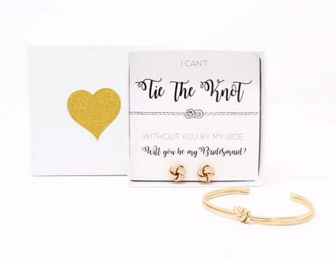 Sailor Love Knot Bracelet & Earring Set - Bridesmaid